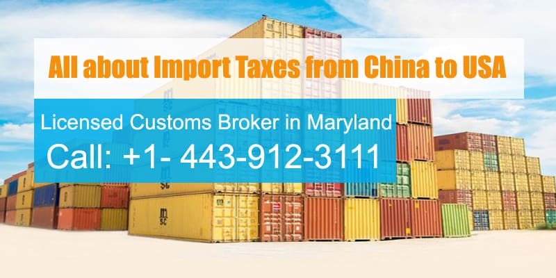 import tax from china to usa
